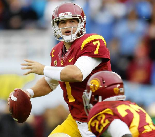The Eagles drafted USC QB Matt Barkley in the fourth round of the 2013 NFL Draft.