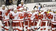 DALLAS -- In a game that Detroit had to win to secure a trip to the NHL Stanley Cup playoffs for a 22nd straight year, Henrik Zetterberg scored twice and added an assist and Jimmy Howard stopped all 17 shots he faced for his fifth shutout of the season as the Red Wings beat the Dallas Stars 3-0 before a sellout crowd of 18,532 at American Airlines Center.