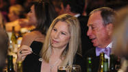 Mayor Michael Bloomberg and Barbra Streisand
