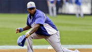 <b>Hanley Ramirez</b> moved a big step closer to rejoining the Dodgers when he started at shortstop Saturday for the team's Class-A affiliate in Rancho Cucamonga. And Ramirez, who hasn't played since tearing a ligament in his right thumb during the World Baseball Classic five weeks ago, made an immediate contribution finishing one for three with two runs batted in and handling eighth chances, including three double plays, in six innings.
