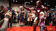 A few notes from the second day of C2E2 -  a.k.a., the Chicago Comics and Entertainment Expo - which runs though Sunday at McCormick Place, and in its fourth year, shows signs of not only getting bigger (attendance wise), but becoming comfortingly archetypal (programming wise): Lots of con legends (Burt Ward, Ron Perlman) but not too many, lots of insider chatter (but nothing off-putting), and lots and lots of people in handmade costumes. On the other hand, Adam West canceled at the last minute (back injury) and, surprisingly, DC Comics, which has a full slate of artists, writers, editors and programming (the publisher even designed the official, Superman-centric C2E2 poster), decided against maintaining a booth at the last minute (and would not explain why when asked, though convention costs have been mumbled about).