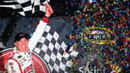 RICHMOND, Va. -- Kevin Harvick rallied from seventh on the final green-white-checkered restart to lead the final two laps and win the Toyota Owners 400 at Richmond International Raceway. The win is Harvick's first of 2013 and moved him into ninth in the Sprint Cup Series standings, the first time he's been in the top 10 this season.