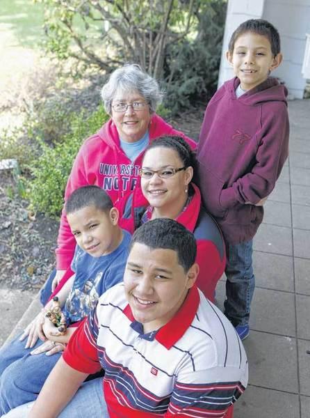 Pictured are Gabriel Trevino, 12, Alex Trancoso, 8, Carolyn Crowley Trancoso, mom, Lynn Crowley, grandmother, and Sebastian Trancoso, back right.