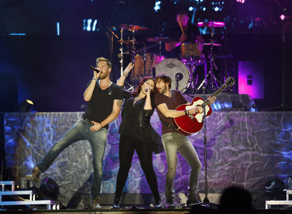 Lady Antebellum performs during the Stagecoach Festival at the Empire Polo Club in Indio on April 27, 2013.