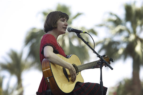 Becky Stark performs on the final day of the Stagecoach Country Music Festival at the Empire Polo Club in Indio.