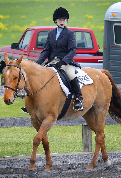 Ashley Lyons, 12, of Smithsburg and her quarterhouse, She Dances for Diamonds, took third place in the Senior All Day division of a pleasure show Sunday at Blue Ridge Riding Club near Boonsboro.
