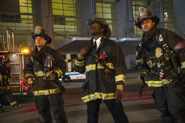 "(L to R) Jesse Spencer, Eammon Walker and Taylor Kinney star in NBC's ""Chicago Fire."""