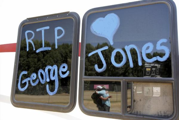 George Jones is remembered by campers attending the Stagecoach Country Music Festival