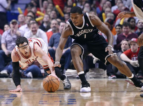 Nets guard Joe Johnson and the Bulls had conversations before Johnson re-signed with the Hawks.