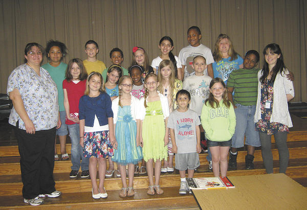 Potomac Heights Elementary School students and staff recently held a coin collection for the March of Dimes. Front row, from left, Jill Leather, school health assistant; Christine Nance, Brooke Keller, Addison Keller, Francis Castillo and Tiffani Turner. Second row, Maria Weaver, Rileigh Tickle, Zohra Abram, Dahlia Skopek, Jacob Fox, Mardoche Metayer and Heather Snow. Back row, Amani Glover, Damien Lee, Cole Schlotterbeck, Mackenzie Foltz, Ana Mooney, Jordan Green and Brianne Moore. Not pictured: Ethan Caudo.