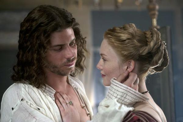 "Cesare (Francois Arnaud) and Lucrezia (Holliday Grainger) love each other in ""The Borgias."""