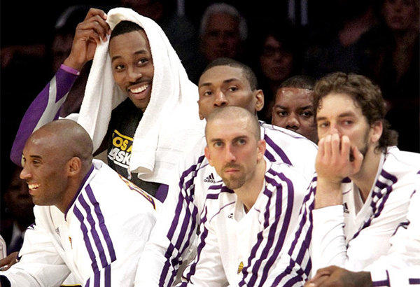 Lakers, Dwight Howard, Kobe Bryant, Pau Gasol, Metta World Peace, Steve Blake