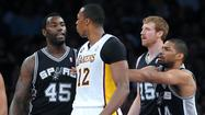 The Lakers (45-37) were no match for the San Antonio Spurs — not with Kobe Bryant, Steve Nash, Steve Blake, Jodie Meeks and Metta World Peace all in street clothes.