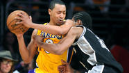 The Lakers brought back second-year guard Andrew Goudelock after Kobe Bryant went down for the season with an Achilles' tendon injury. Once Steve Blake (hamstring) and Jodie Meeks (ankle) were lost, Goudelock ended up the Lakers' emergency starter in two playoff games against the San Antonio Spurs.