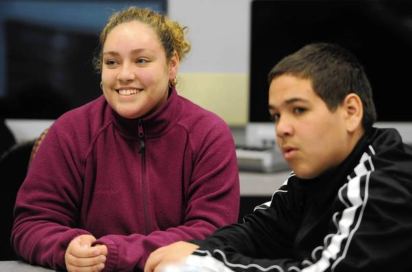 Siblings Gracie Santana, 14, and Frankie Santana, 13, students at Lincoln Leadership Academy Charter School, produced a documentary with other teens called 'A Trillion for Education' for the 3rd annual If I Had a Trillion Dollars Youth Film Festival.