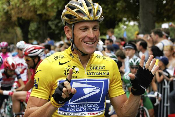 The U.S. Justice Department sues Lance Armstrong, shown at the 2004 Tour de France, for defrauding the U.S. Postal Service of millions of dollars in sponsorship fees.