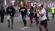 BOSTON (AP) — The angry and grieving mother of the Boston Marathon bombing suspects insists that her sons are innocent and that she's no terrorist.