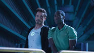 "Robert Downey Jr. as Tony Stark, left, and Don Cheadle as James ""Rhodey"" Rhodes in ""Iron Man 3."" (James Rosenthal / Marvel Entertainment)"