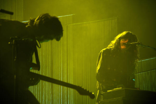 Victoria Legrand (right) and Baltimore native Alex Scally perform as Beach House at the Lyric Opera House.