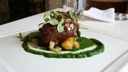 Braised pork cheeks at Wine Market Bistro