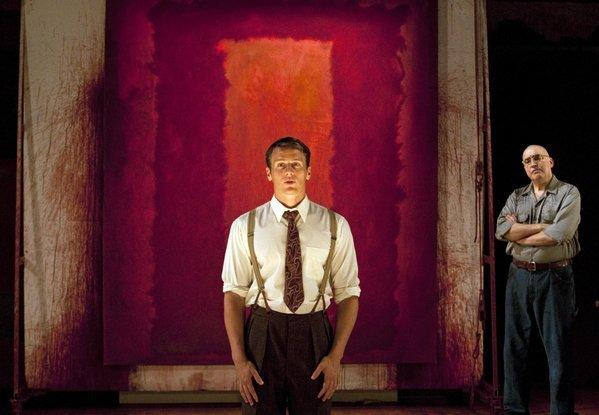 "Jonathan Groff, left, and Alfred Molina star in ""Red"" at the Mark Taper Forum last year."