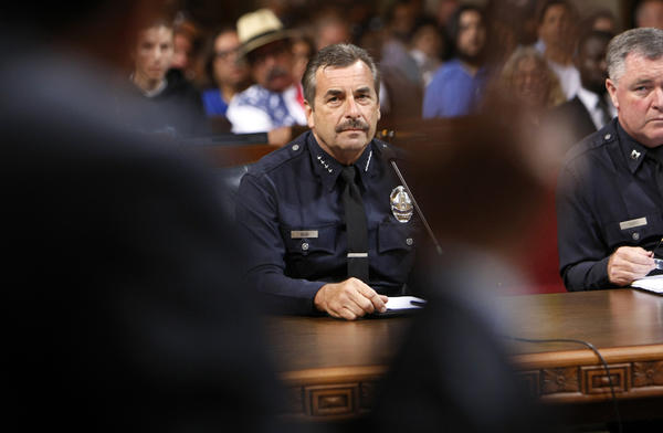 LAPD Chief Charlie Beck offered to review past discipline cases after ex-cop Christopher Dorner expressed frustration and anger toward the department in a deadly rampage.