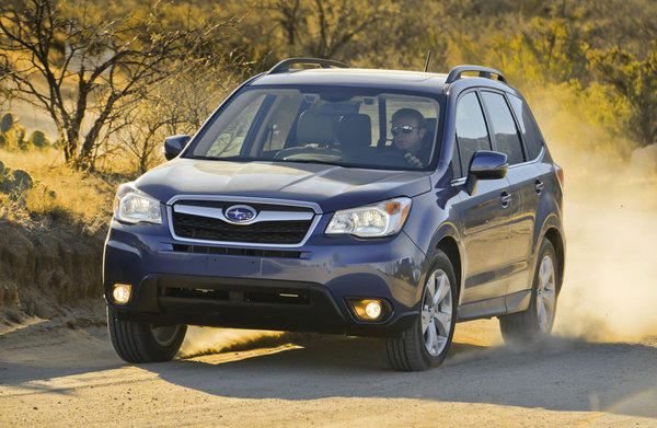 Subaru is recalling more than 10,000 of its 2014 Forester models to replace floor mats that can curl when exposed to heat.