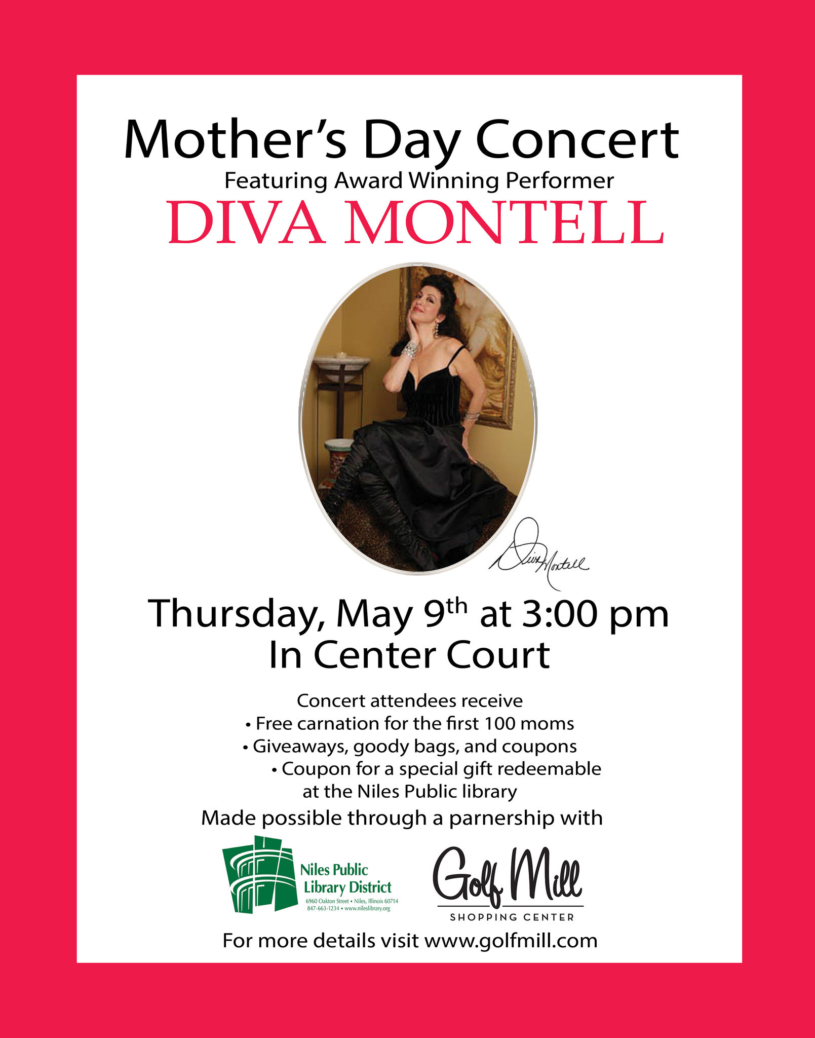 Award Winning Vocalist Diva Montell Headlines A Special Mother S Day Concert At Golf Mill