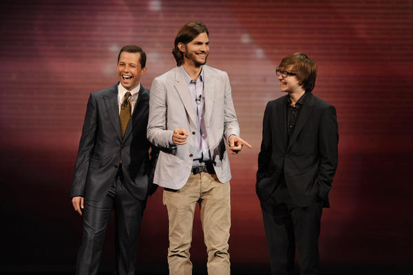 """Jon Cryer, Ashton Kutcher and Angus T. Jones of """"Two and a Half Men"""" will be returning for the show's 11th season."""