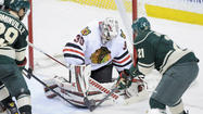 The Chicago Blackhawks' Stanley Cup playoff preparation began without two key elements, as goalie Ray Emery and Dave Bolland were nowhere to be found when Monday's practice began.
