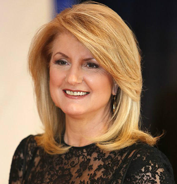 Arianna Huffington, co-founder of the Huffington Post, at the White House Correspondents' Dinner.