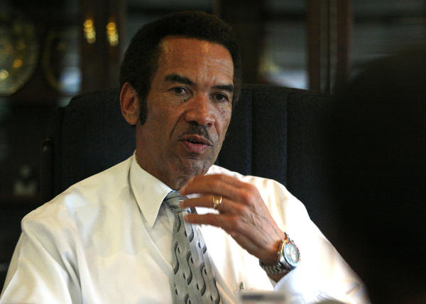 Botswana President Ian Khama in his office in 2010.