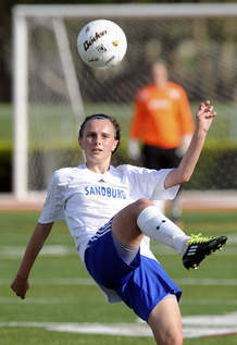 Morgan Manzke was voted All-State as a junior for Carl Sandburg's soccer team.