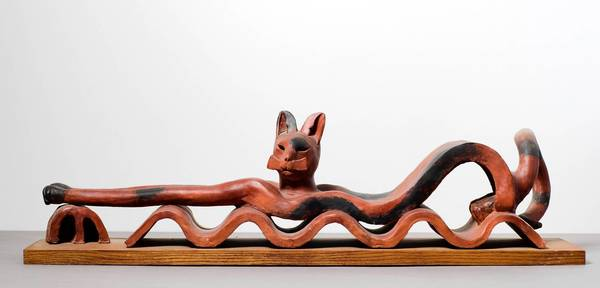 """Wavy Cat"" by Elbert Weinberg"