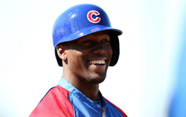 Chicago Cubs' prospect Jorge Soler during spring training at Fitch Park in Mesa, Ariz.