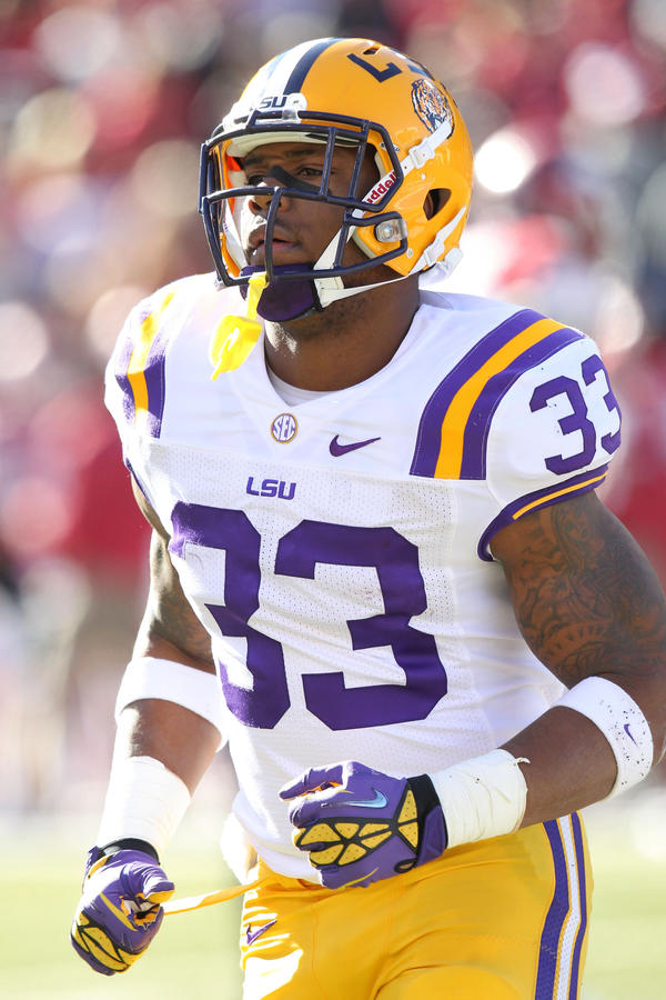 LSU Tigers tailback Jeremy Hill is punishing downhill runner who is considered by many to be the top back in the 2014 NFL draft.
