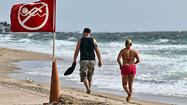 Perilous seas have kept red flags raised along much of Florida's coastline, warning swimmers and rescue workers to be on the alert for deadly rip currents that are expected to continue through midweek.