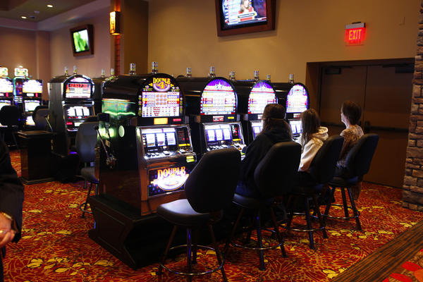 A private event was held at the Four Winds Dowagiac casino on Monday morning. The casino will open at noon Tuesday. (South Bend Tribune/SANTIAGO FLORES)