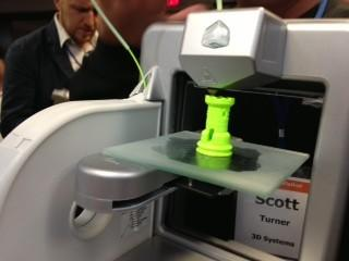In a little more than an hour, a 3-D printer made a chess piece (it happened to be a rook) at the 2013 Milken Institute Global Conference.