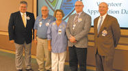 "Volunteers of the Meritus Medical Center Auxiliary recently gathered to celebrate National Healthcare Volunteer Week and the 2013 theme, ""Honoring the Spirit of Service."""