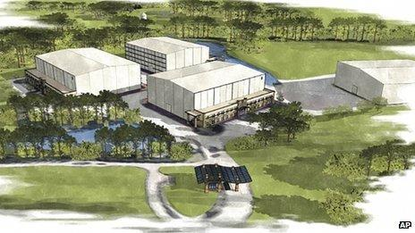 Drawing for the planned Pinewood Atlanta project.