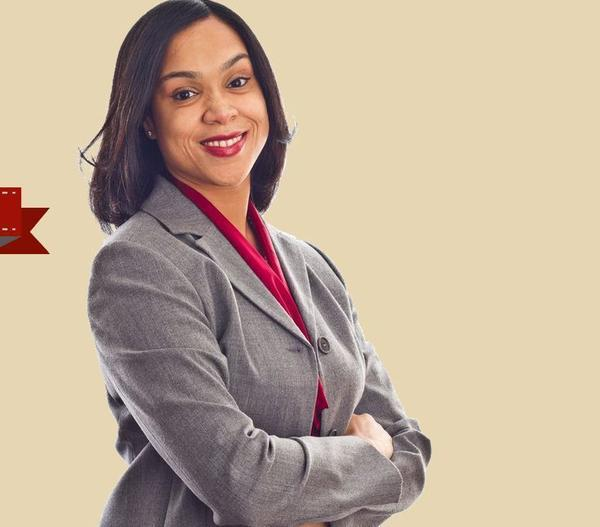 Marilyn Mosby, in this screen shot from her campaign website, says she is running for Baltimore State's Attorney in 2014