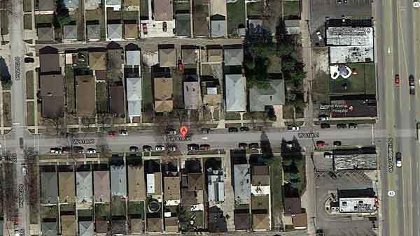 The approximate location of an accident in Summit this morning in which a man was killed.