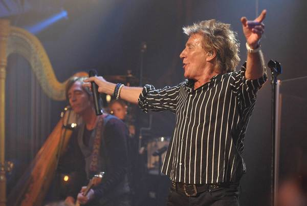 Rod Stewart performs at the Troubadour in West Hollywood on April 25.