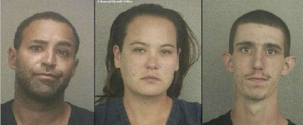 Adam Schaffer, Colleen Buck and Chase Eaton, charged with grand theft and accused by the Broward Sheriff's Office of stealing 109 pairs of earrings from an Oakland Park Kmart worth $20,000.