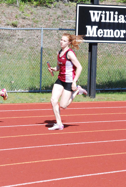 Charlevoix's Caroline Boss won the 400-meter run in one minute, .98 seconds Friday at the Clare Invitational and was also apart of the winning 1600 and 3200 relay teams to lead the Rayder girls.