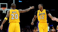 Jodie Meeks built a solid bond with teammate Dwight Howard during their first season together with the Lakers.