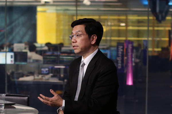 Lee Kai-Fu, chairman and chief executive officer of Innovation Works, speaks during a Bloomberg Television interview in New York. Lee discussed Google Inc.'s withdrawal from China and the relationship between social media, innovation and censorship.