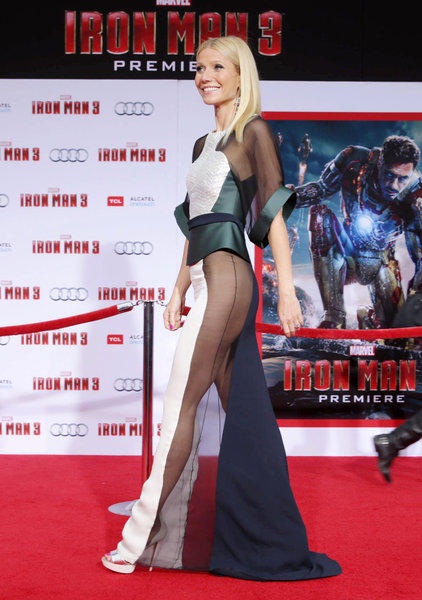 "The Antonio Berardi dress worn by Gwyneth Paltrow at last week's premiere of ""Iron Man 3"" got a lot of attention."