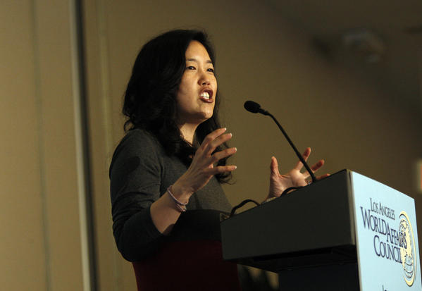 Former D.C. schools Chancellor Michelle Rhee's education advocacy efforts got a boost Tuesday with an $8-million grant from the Walton Family Foundation.